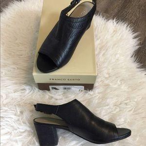 Franco Sarto Monaco leather slingback heel sandal